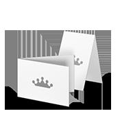 Klapp-Visitenkarten quer
