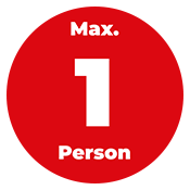 Info Kleber zur Anzahl Personen, rund 20cm