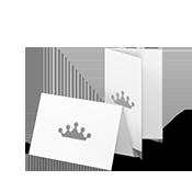 Digitaldruck Klapp-Visitenkarten hoch